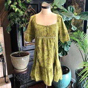 Aryeh sparrow peplum cap boho shirt dress